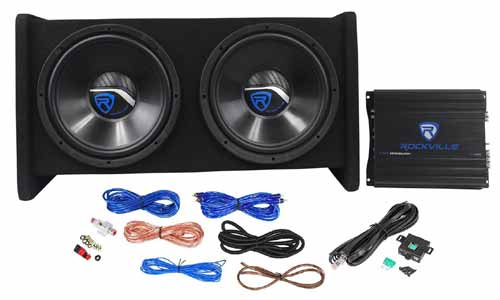 An Average Car Subwoofers Package